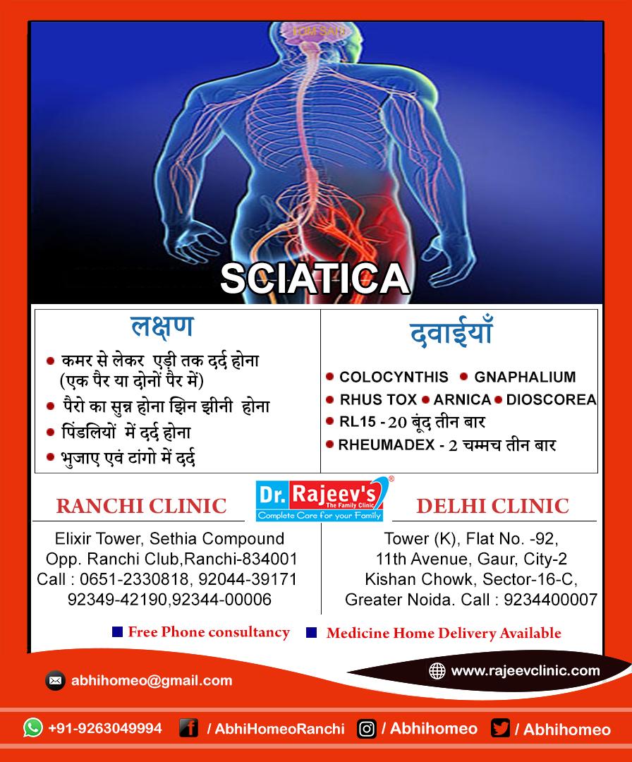 Homeopathy Treatment for Sciatica in Ranchi/Delhi